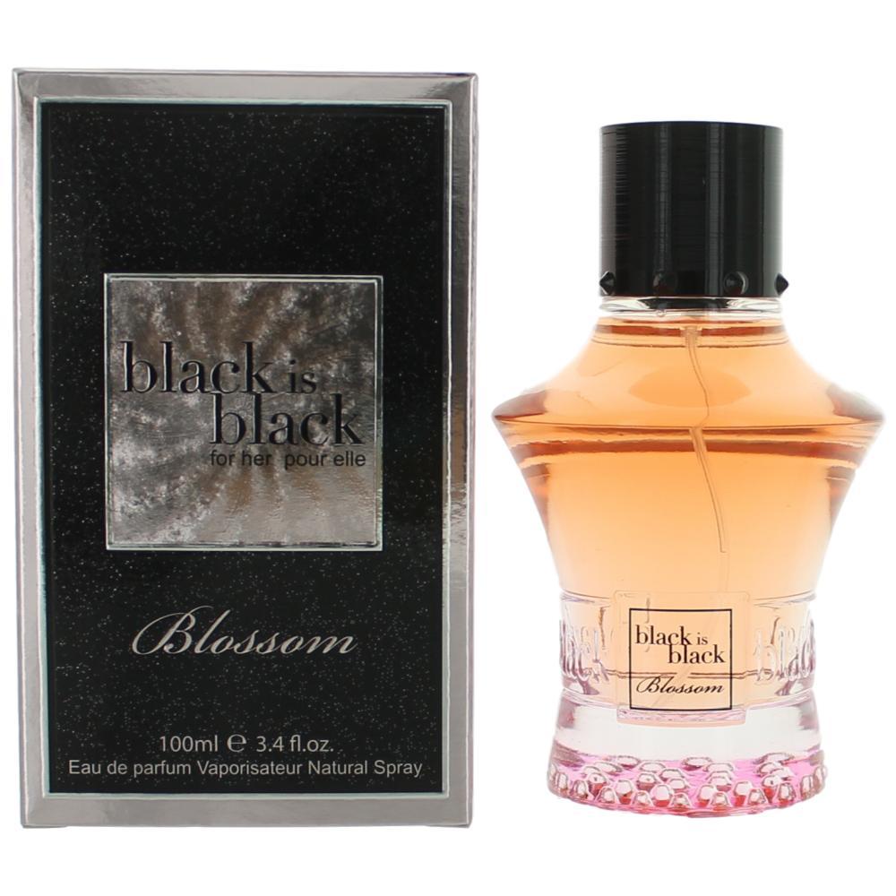 Black is Black Blossom Woman by Nu Parfumes, 3.4 oz Eau De Parfum Spray for Women