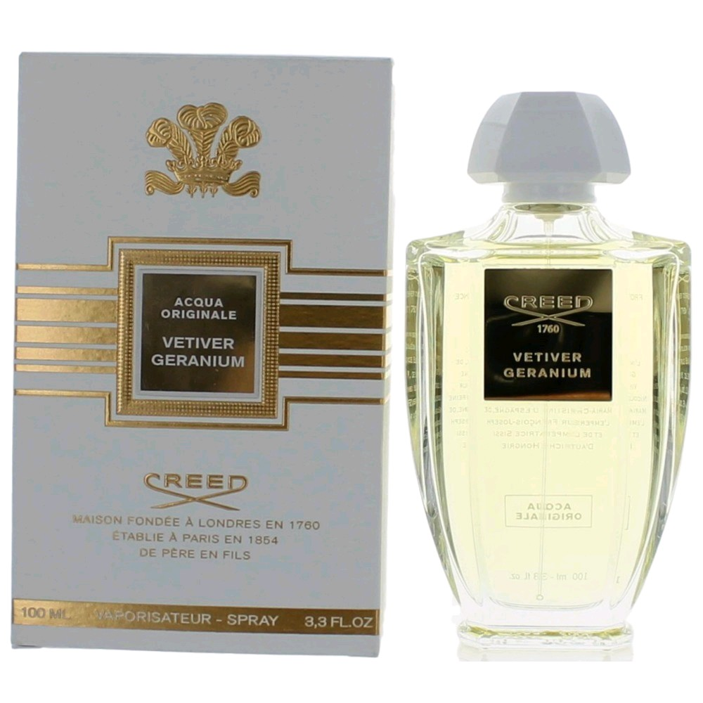 Acqua Originale Vetiver Geranium by Creed, 3.3 oz EDP Spray for Unisex