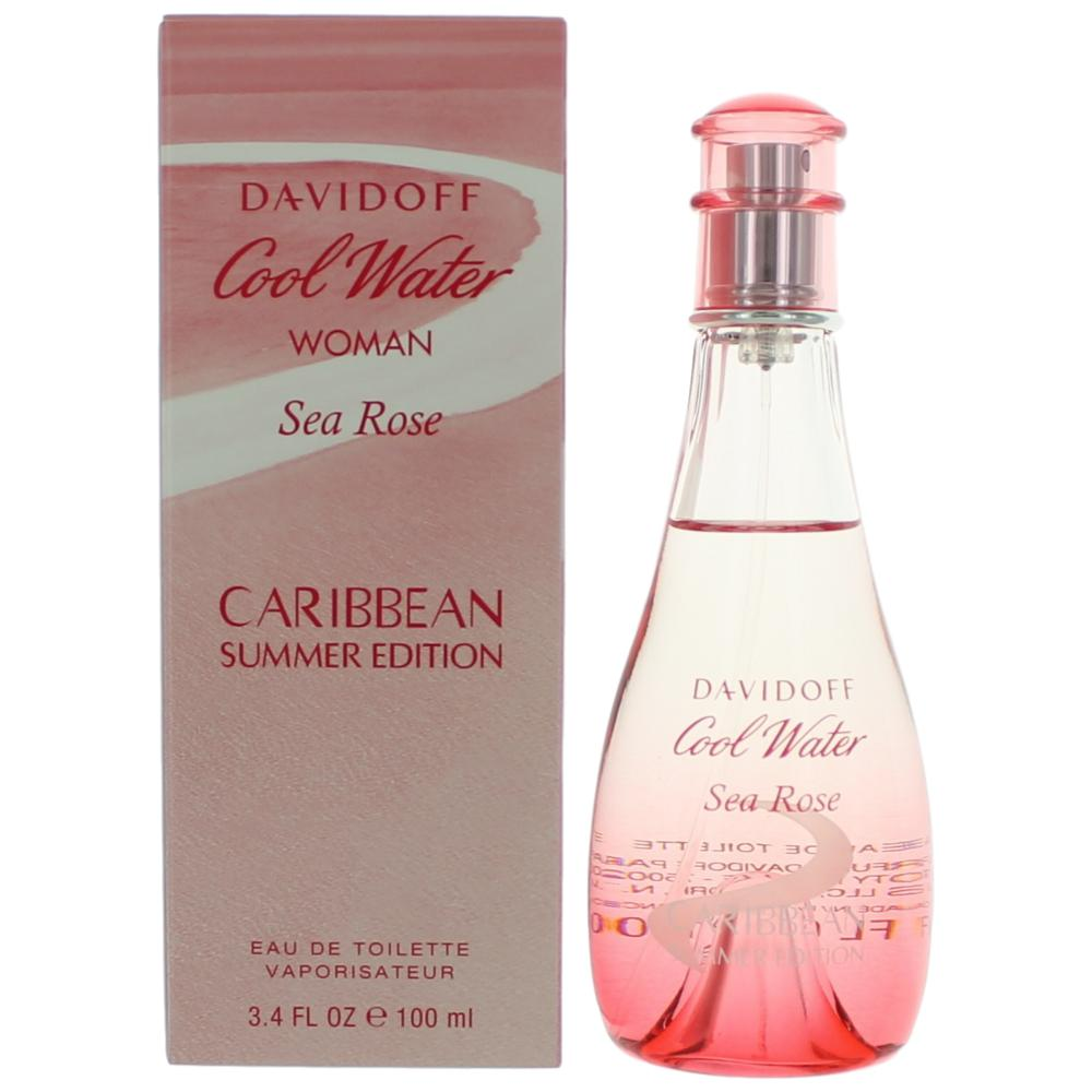 Cool Water Sea Rose Caribbean Summer by Davidoff, 3.4 oz EDT Spray for Women