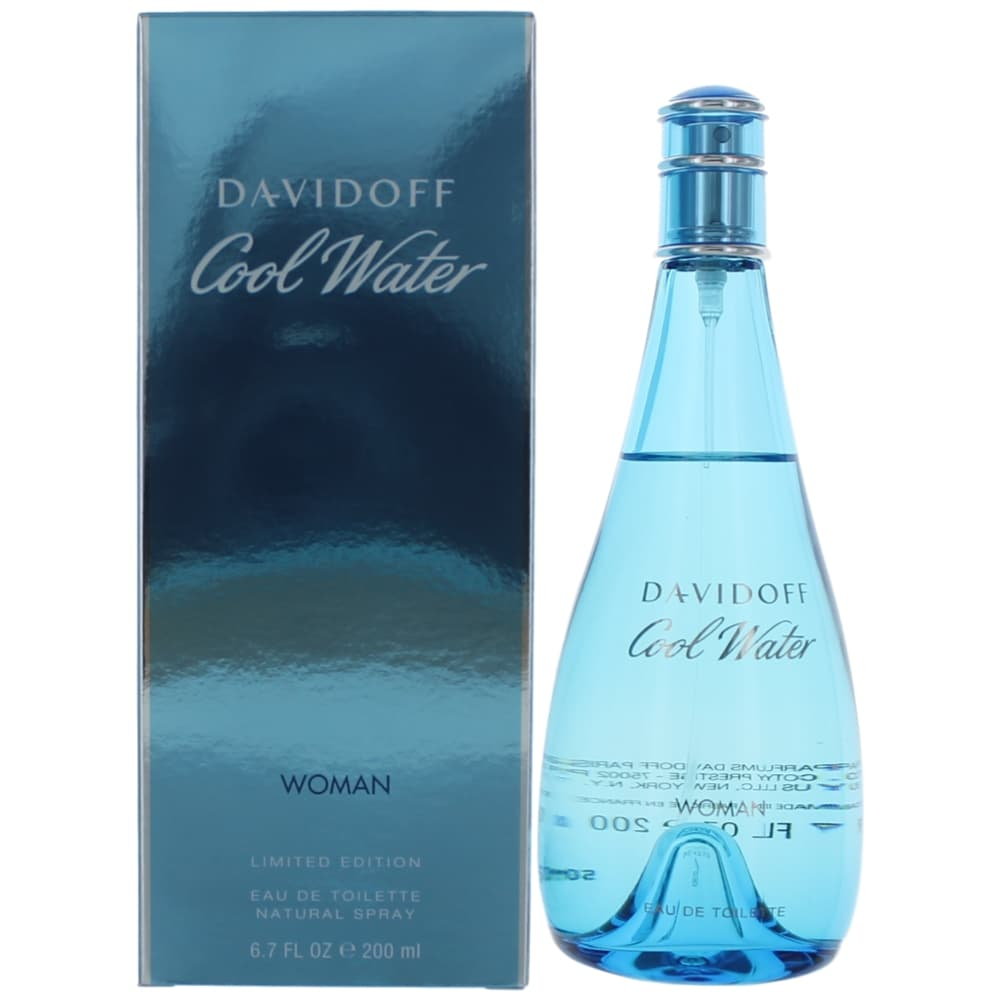 Cool Water by Davidoff, 6.7 oz EDT Spray for Women