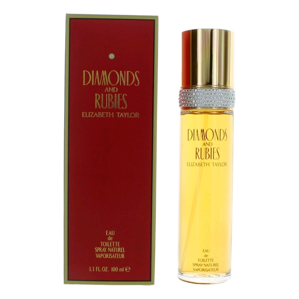 Diamonds & Rubies by Elizabeth Taylor, 3.3 oz Eau De Toilette Spray for women.