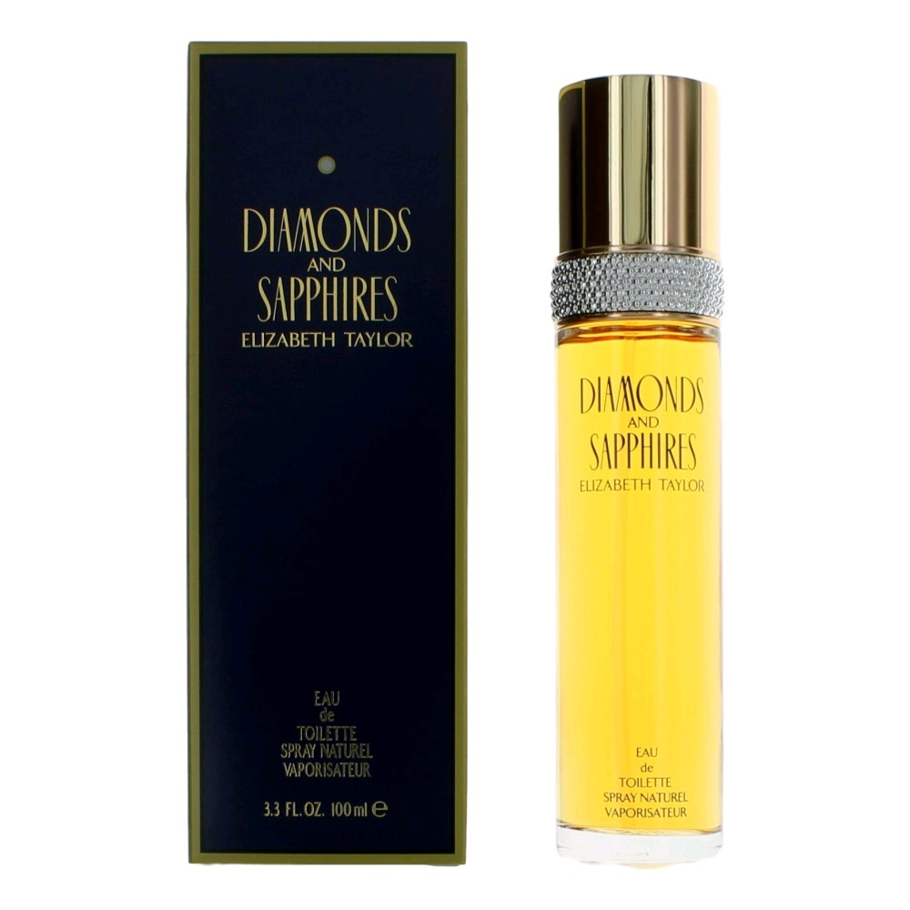 Diamonds & Sapphires by Elizabeth Taylor, 3.3 oz Eau De Toilette Spray for women.