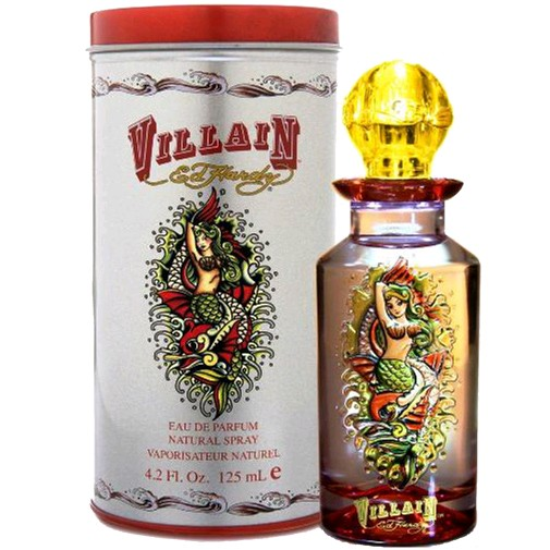 Ed Hardy Perfume For Women By Christian Audigier: Ed Hardy Villain By Christian Audigier Eau De Parfum Spray 4.2 Oz Unboxed