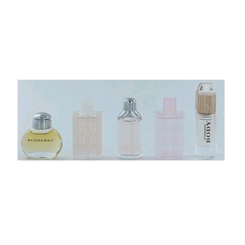Burberry Collection of Fragrances by Burberry, 5 Piece Mini Variety Set for Women .15oz EDP EDT