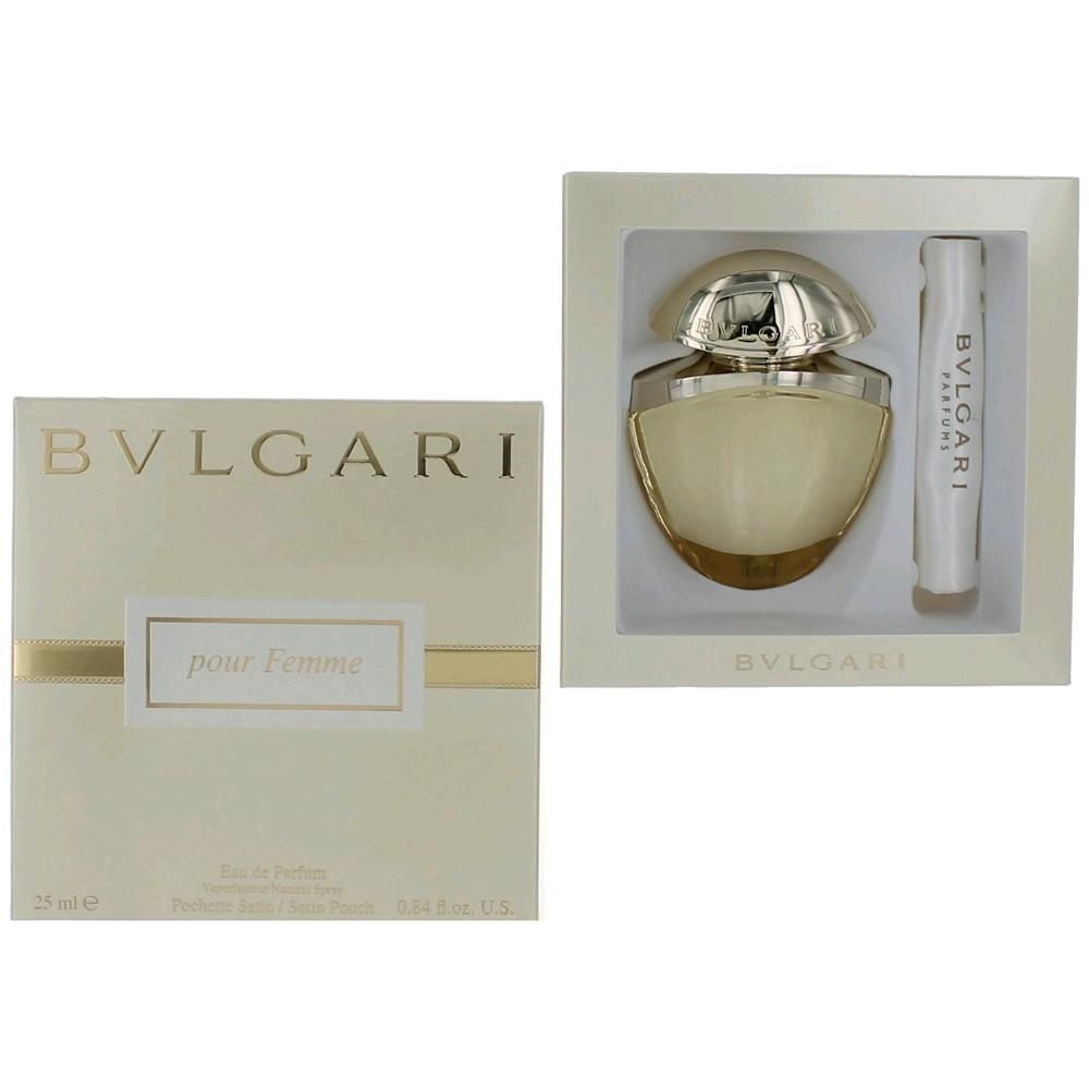 Bvlgari Pour Femme by Bvlgari, .84 oz EDP Spray with Satin Pouch for Women