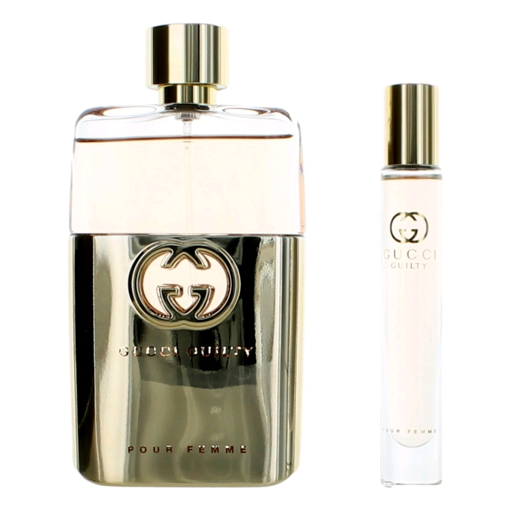Gucci Guilty Pour Femme by Gucci, 2 Piece Gift Set for Women 3oz EDP Spray
