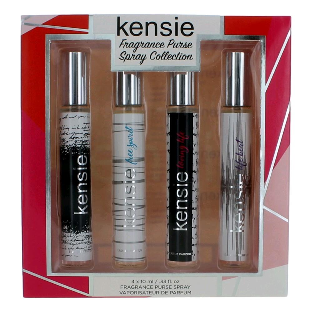 Kensie by Kensie, 4 Piece Variety Gift Deluxe Travel Spray Set for Women (Purse Spray)