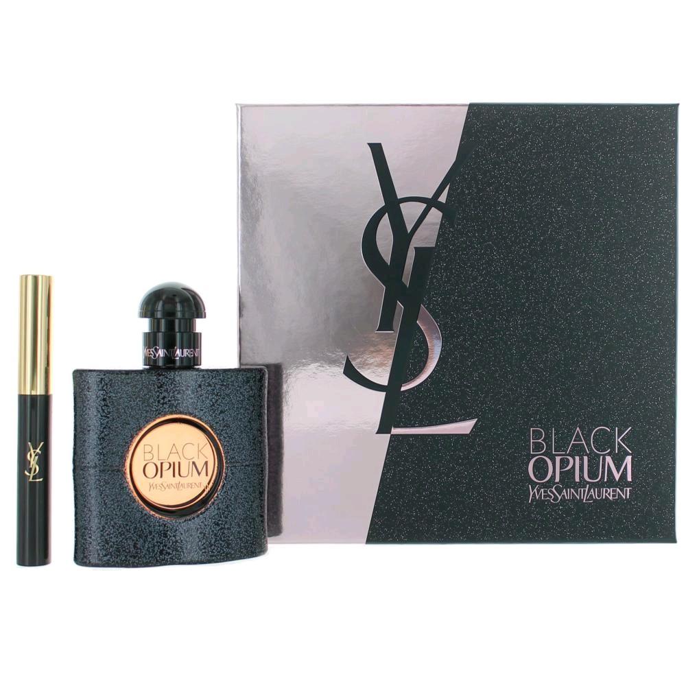 Black Opium by Yves Saint Laurent, 2 Piece Gift Set for Women 1.6oz EDP Spray
