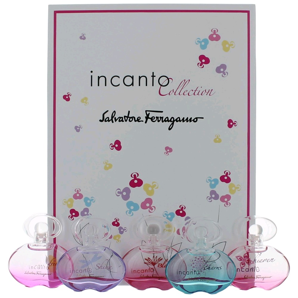 Incanto Collection by Salvatore Ferragamo, 5 Piece Variety Mini Gift Set for Women awgsal5
