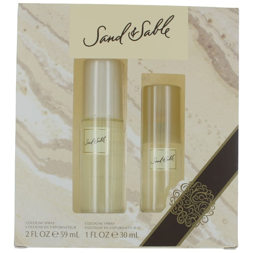 Sand & Sable by Coty, 2 Piece Gift Set for Women 2oz Cologne Spray