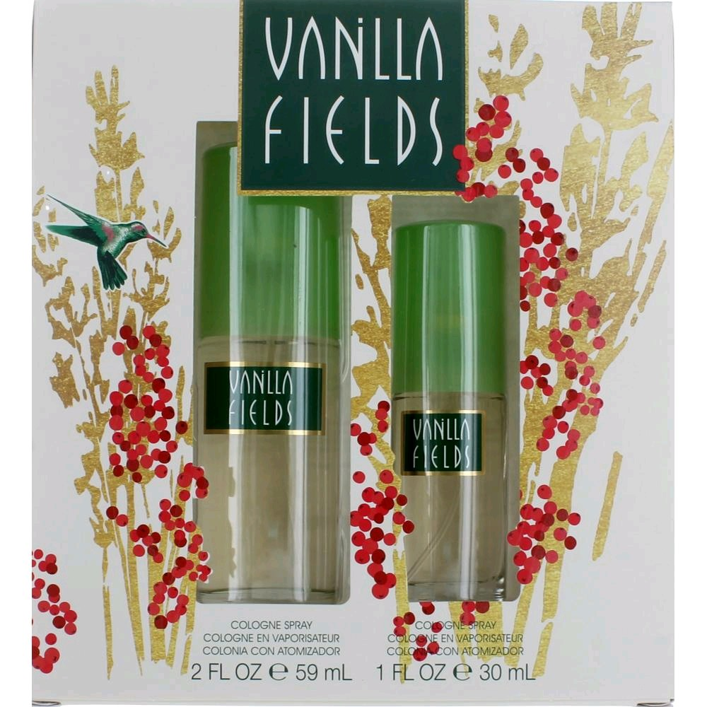 Vanilla Fields by Coty, 2 Piece Gift Set for Women 2oz Cologne Spray