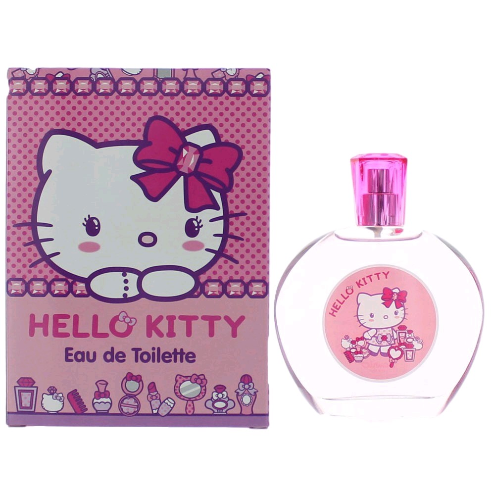 Hello Kitty by Air-Val, 3.4 oz Eau De Toilette Spray for Girls (Flat Box)