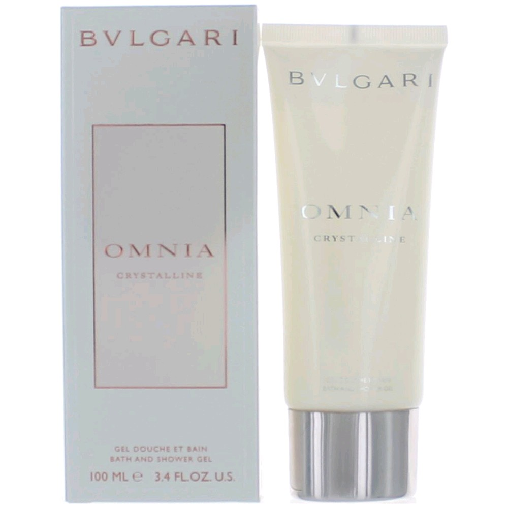 Omnia Crystalline by Bvlgari, 3.4 oz Bath and Shower Gel for Women EDP