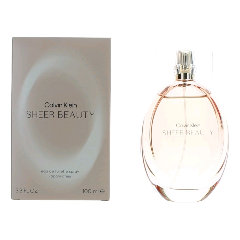 Sheer Beauty by Calvin Klein, 3.4 oz EDT Spray for Women