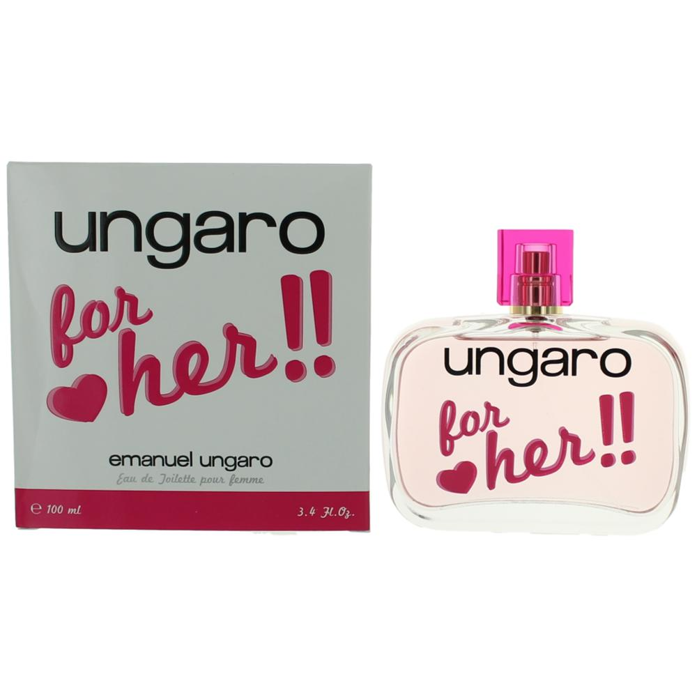 Ungaro for Her by Emanuel Ungaro, 3.4 oz Eau De Toilette Spray for Women