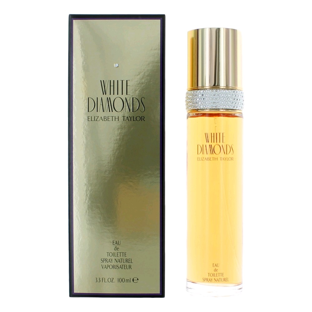 White Diamonds by Elizabeth Taylor, 3.4 oz Eau De Toilette spray, For women