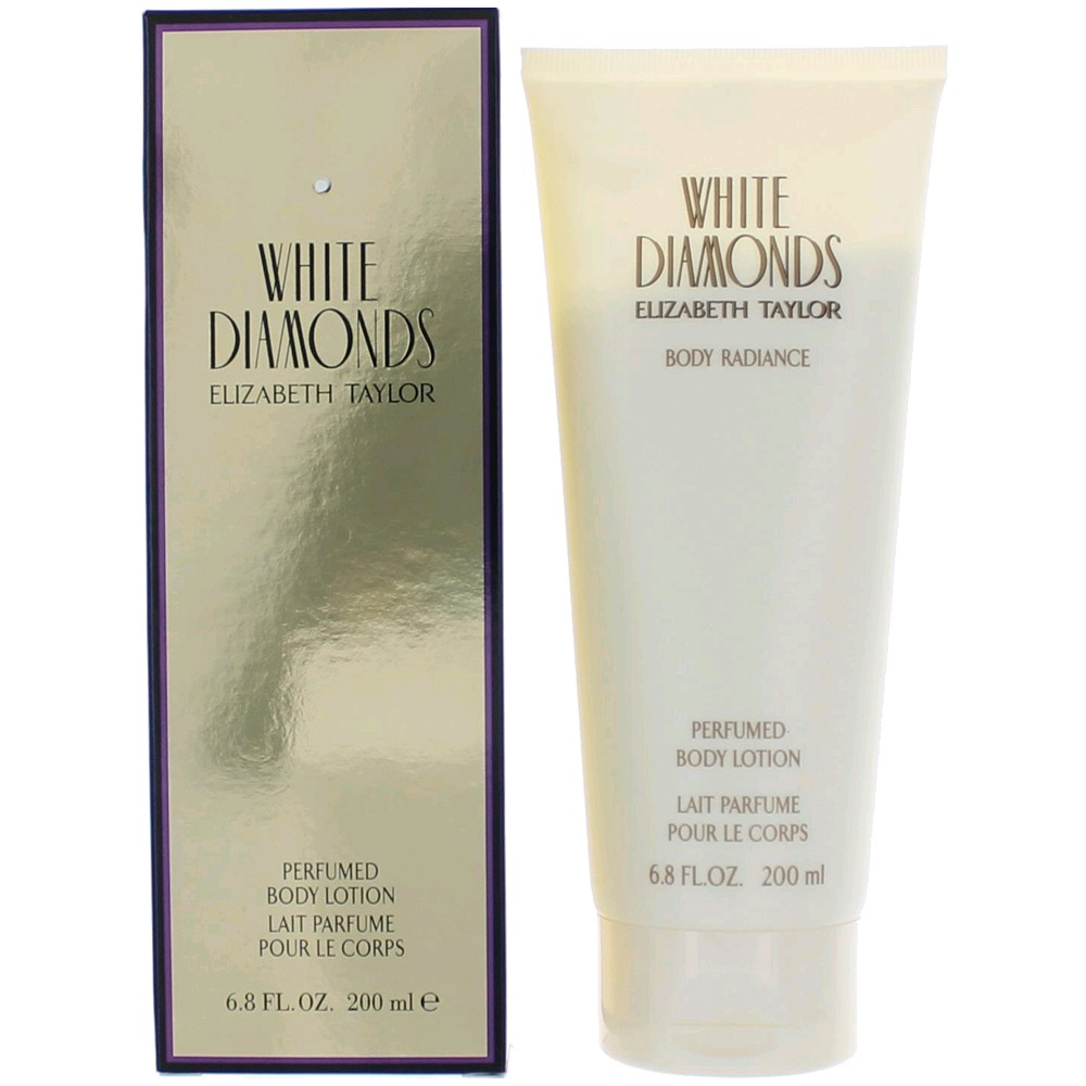 White Diamonds by Elizabeth Taylor, 6.8 oz Perfumed Body Lotion for Women awwhd68bl