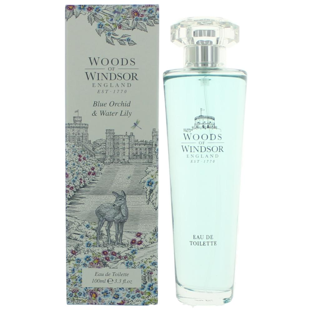 Woods Of Windsor Blue Orchid & Water Lily by Woods Of Windsor, 3.3 oz EDT Spray for Women