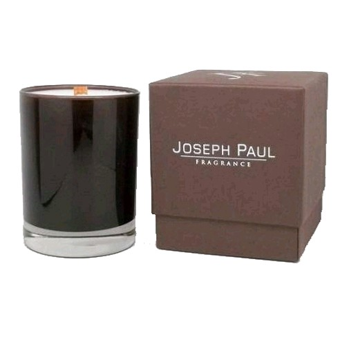Joseph Paul Soy Candle 13 oz Brown & Amber Glass - High Tea Luxury Soy Glass