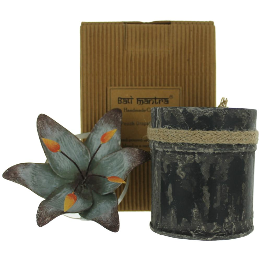 Bali Mantra Handmade Scented Candle In Waterlily