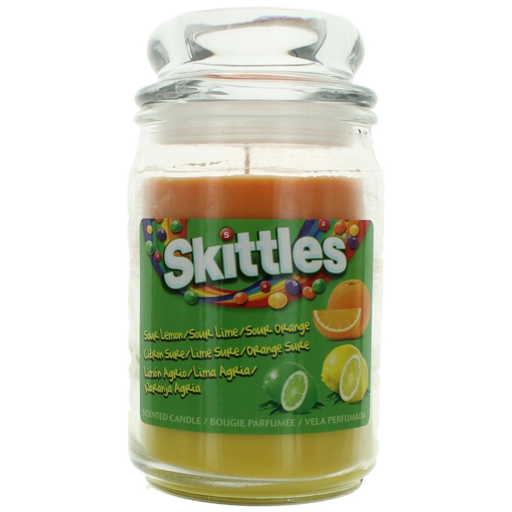 Skittles Scented Candle 16 oz Triple Pour Jar - Sour Lemon/Lime/Orange