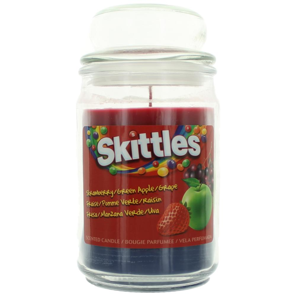 Skittles Scented Candle 16 oz Triple Pour Jar - Strawberry/Green Apple/Grape